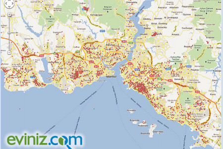 Istanbul - Real Estates for sale density map Infographic