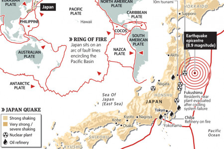 Japan sits atop deadliest section of Ring of Fire Infographic