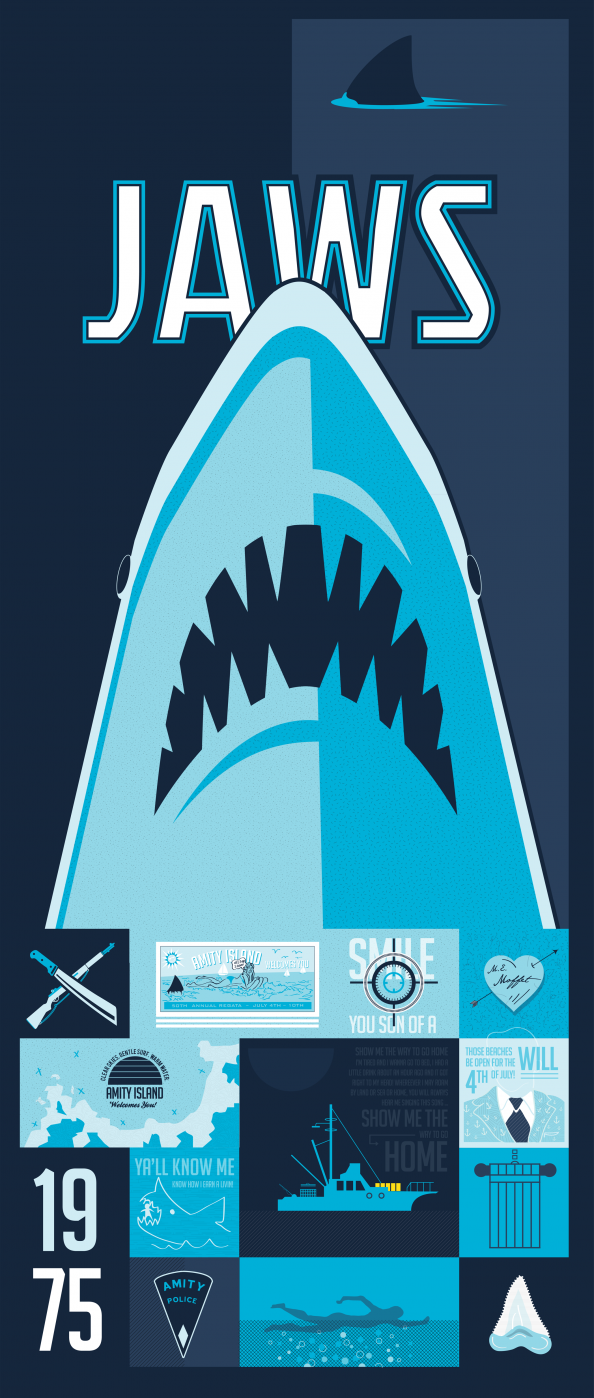 Jaws: A Homage Infographic