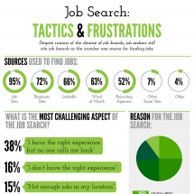 Job Search: Tactics & Frustrations Infographic