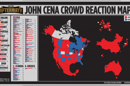 John Cena Crowd Reaction Map Infographic