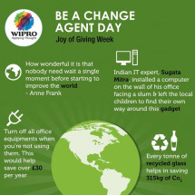 Joy of Giving - Be a Change Agent Day Infographic