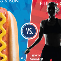 July 4th Food vs. Fitness Infographic