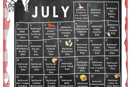 July National Food Holiday Calendar  Infographic