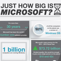 Just How Big Is Microsoft? Infographic