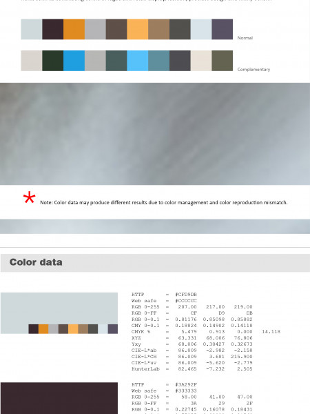 keboto - Color palette No1 Infographic
