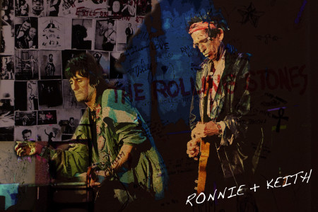 Keith and Ronnie from the Rolling Stones Infographic
