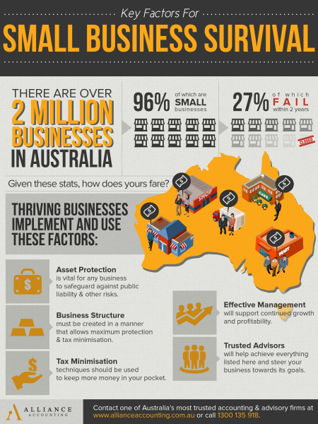 Key Factors For Small Business Survival Infographic