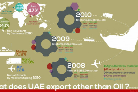 Key Indicators of Non-Oil Exports from the UAE Infographic