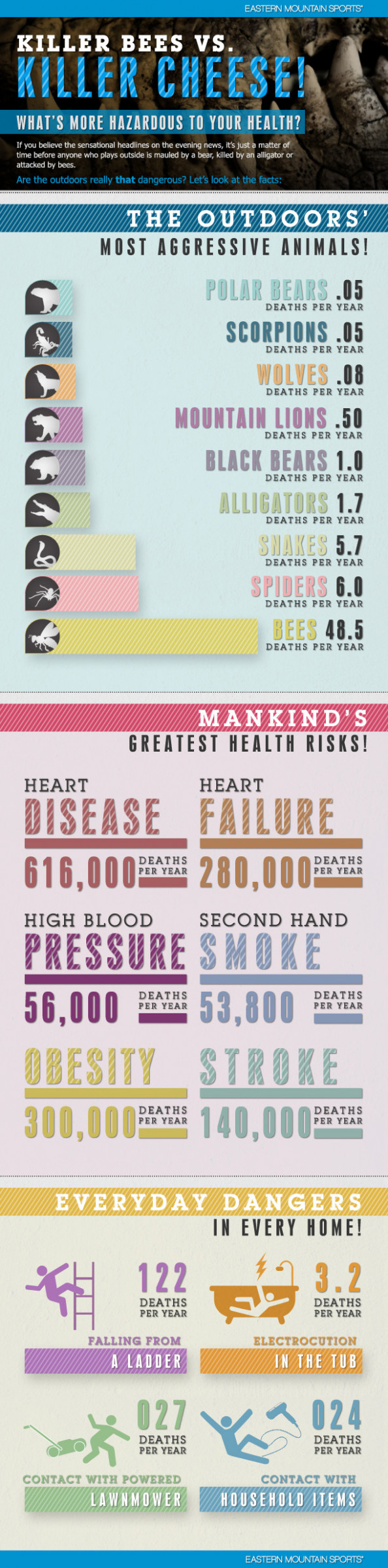 Killer Bees VS. Killer Cheese: Whats More Hazardous To Your Health?  Infographic