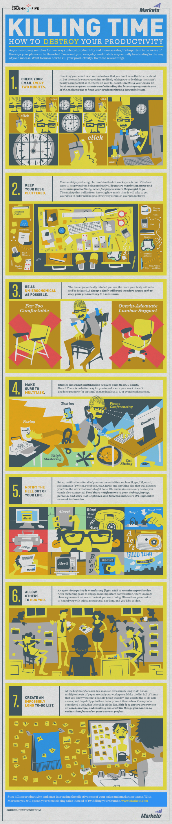 Killing Time: How to Destroy Your Productivity  Infographic