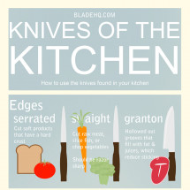 Kitchen Knives Infographic