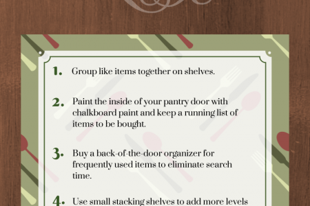 Kitchen Revamp & Organization: Pantry & Food Storage Infographic
