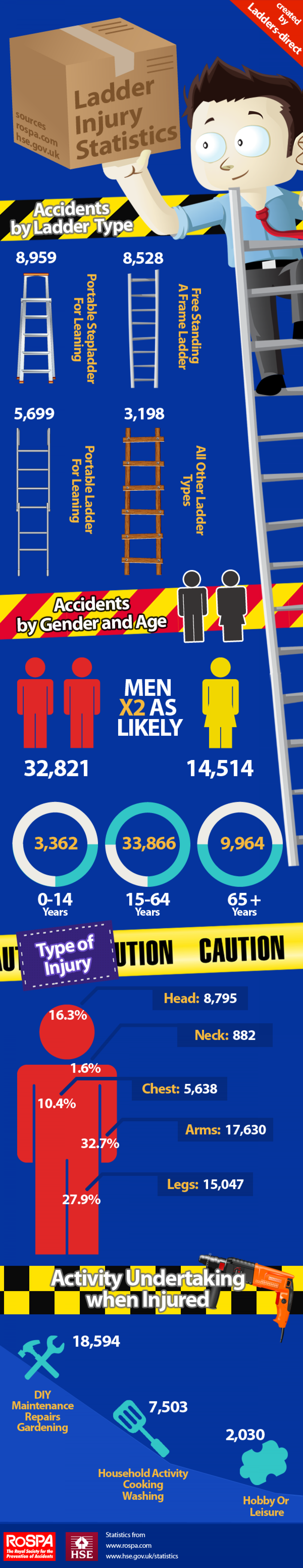 Ladder Injury Statistics Infographic