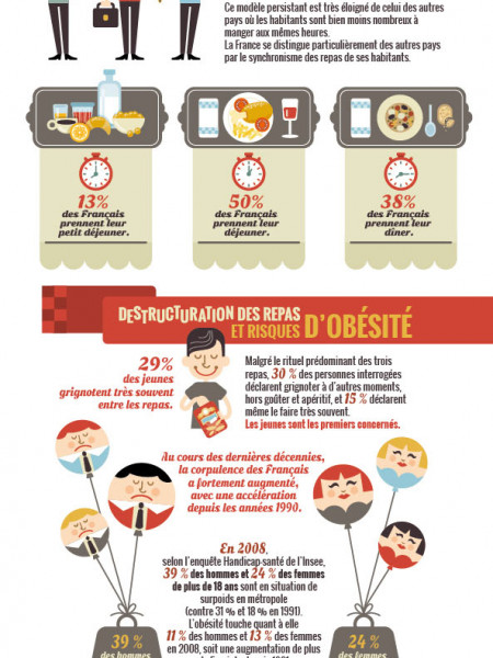 L'alimentation en France Infographic