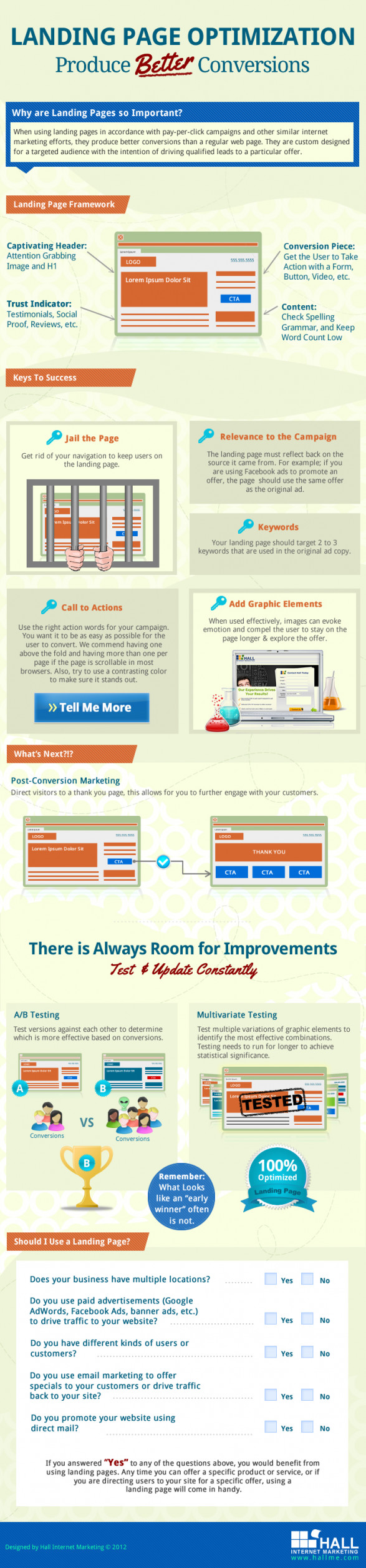 Landing Page Optimization - Produce Better Conversions