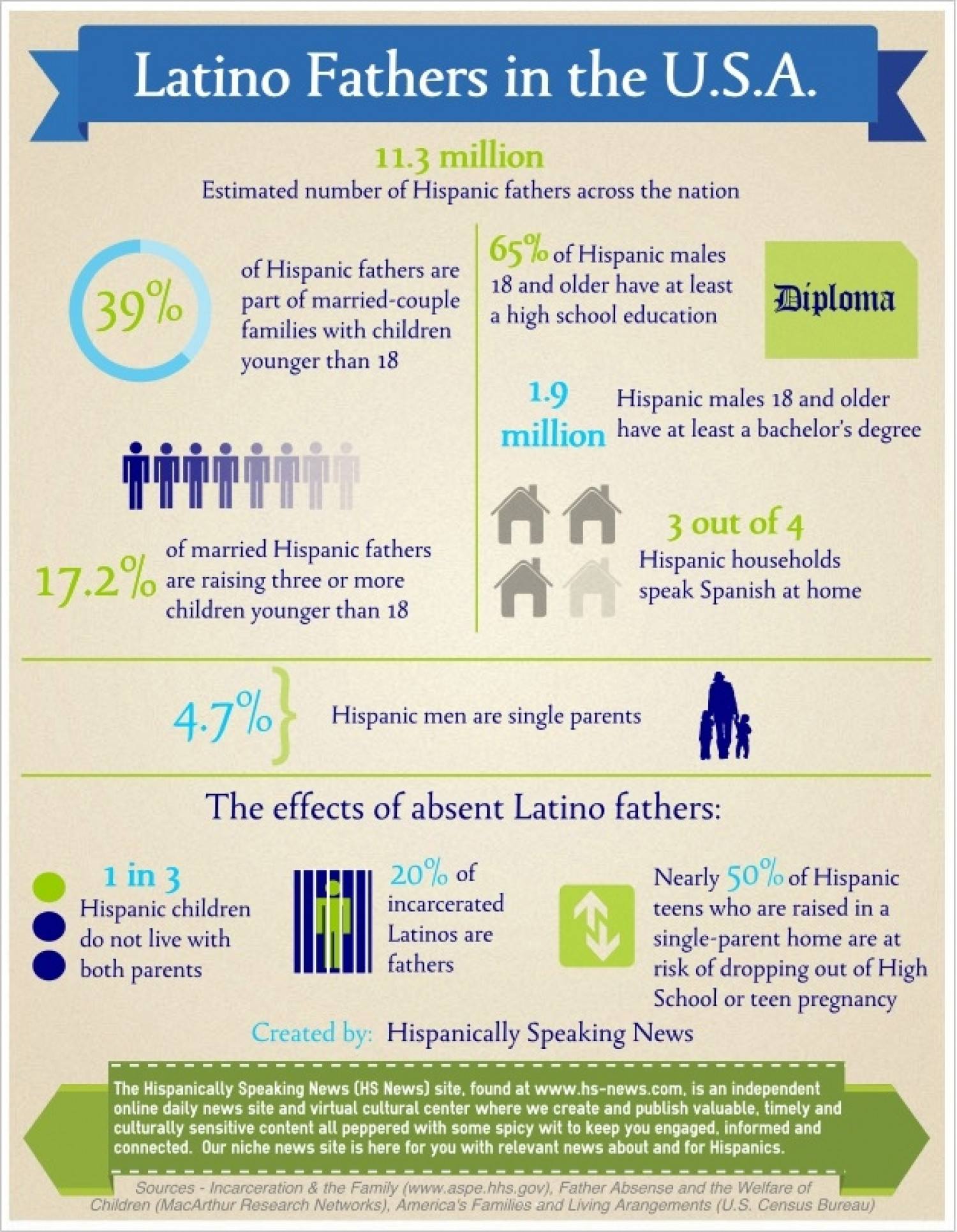 Latino Fathers in the U.S.A. Infographic