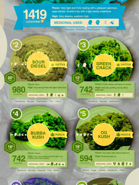 Legal Weed's Top 10 Greatest Hits Infographic