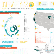 Lemon.ly's 'One Sweet Year' 2012 Annual Report Infographic
