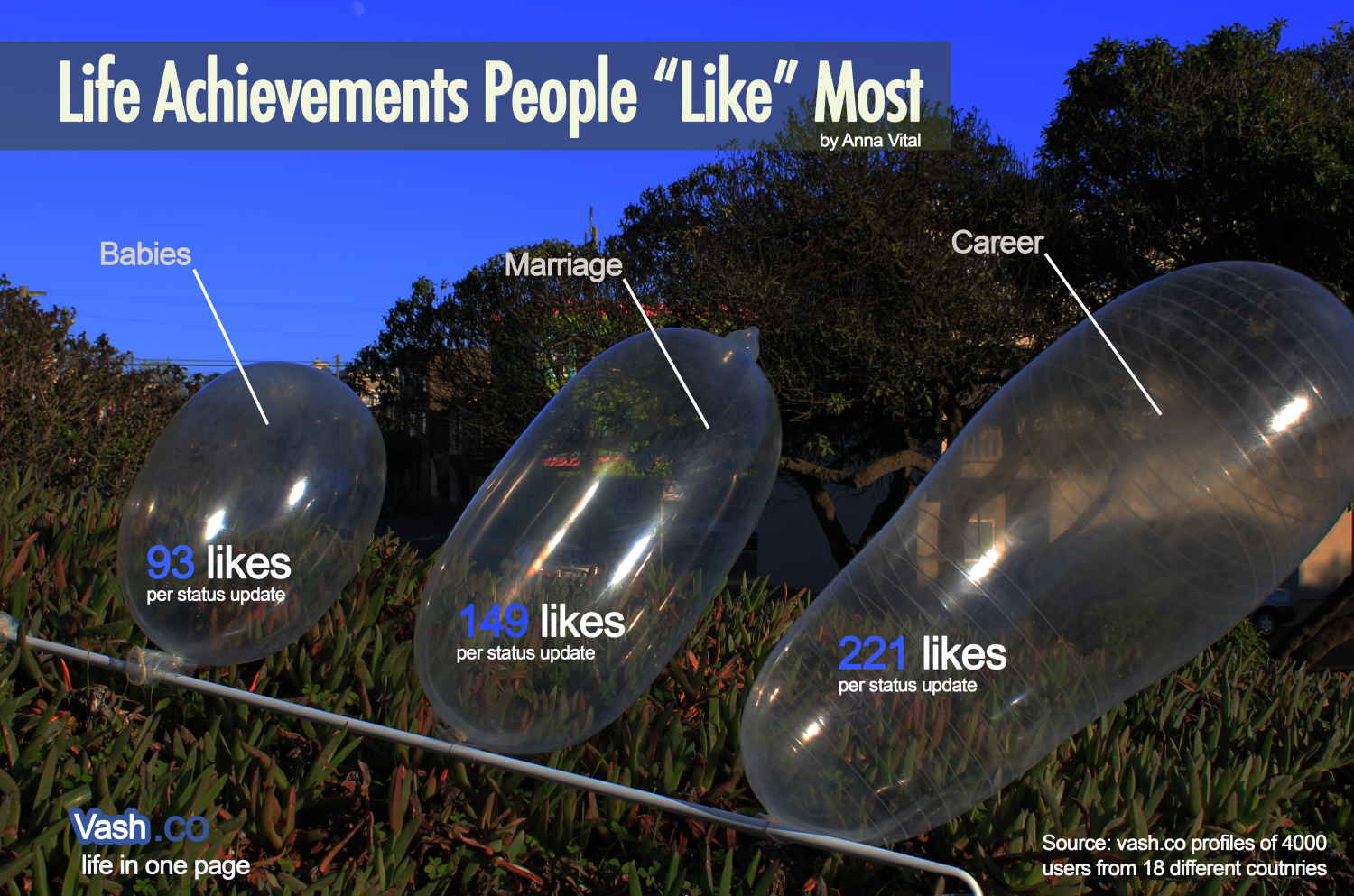 "Life Achievements People ""Like"" Most Infographic"