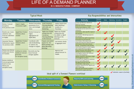 Life of a Demand Planner Infographic