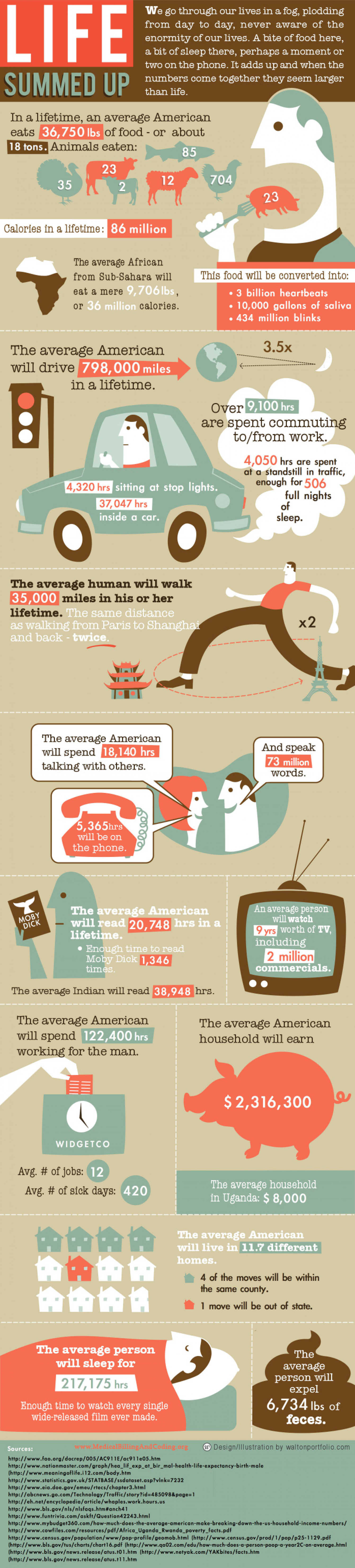 Life Summed Up  Infographic