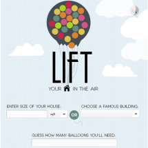 Lift Your House With Balloons Infographic
