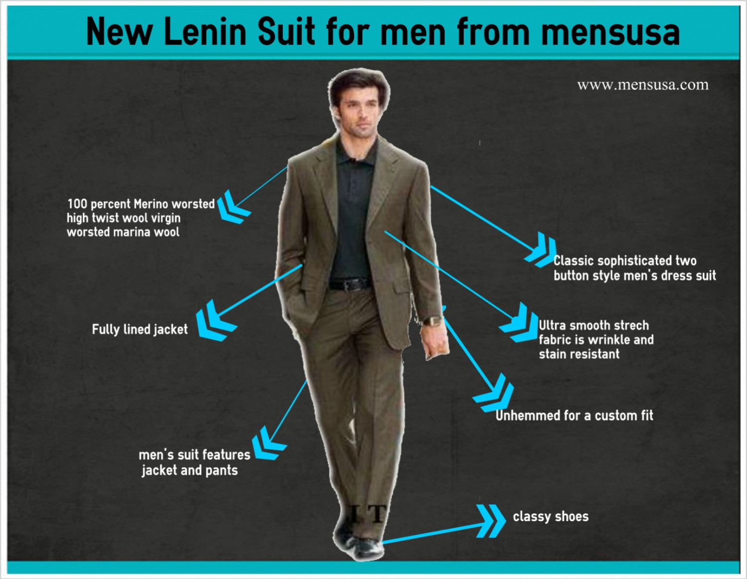 LINEN SUITS FOR MEN FROM MENSUSA Infographic