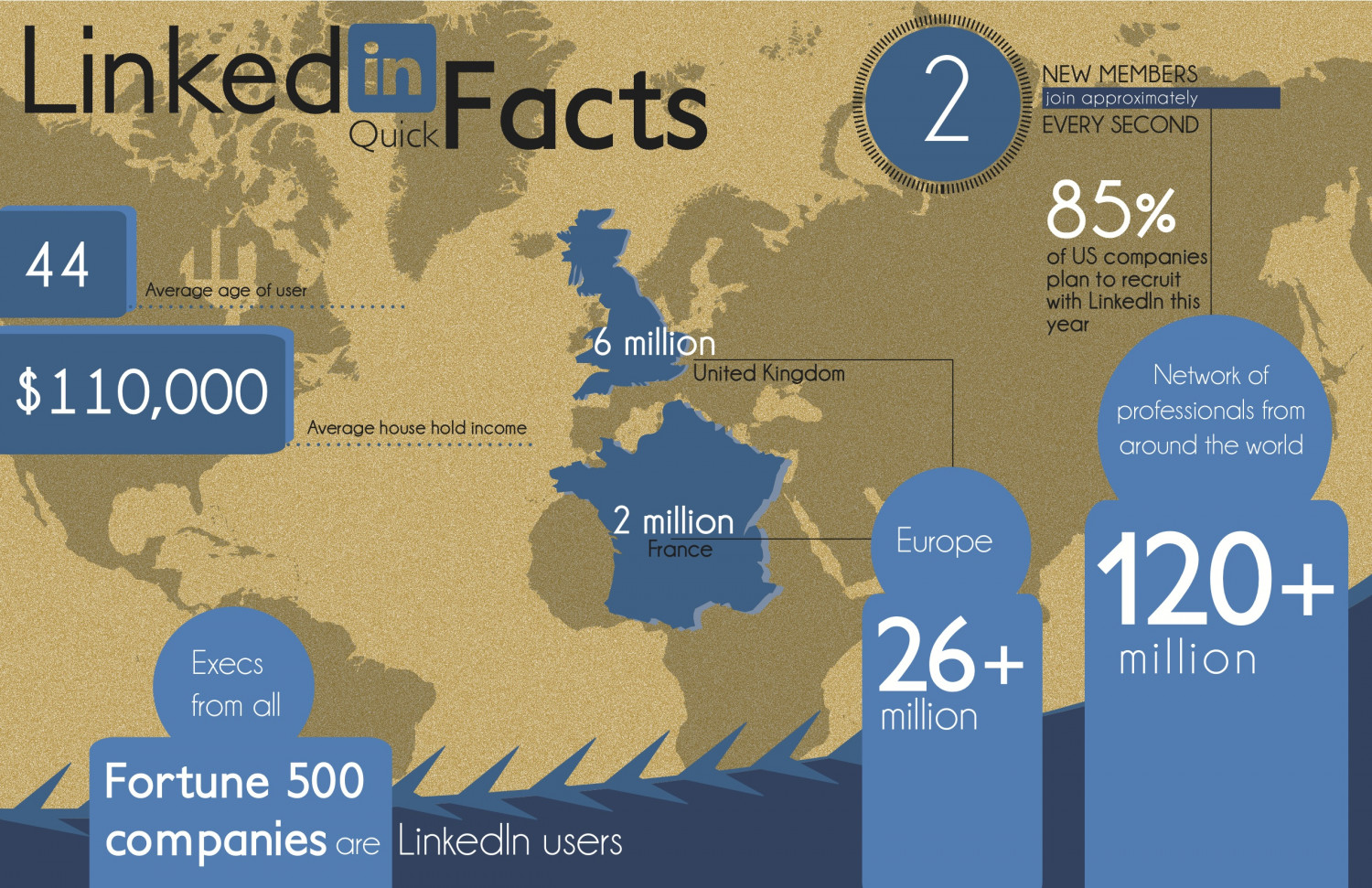 LinkedIn Quick Facts  Infographic