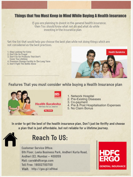 List of Things that You Must Keep in Mind While Buying A Health Insurance  Infographic