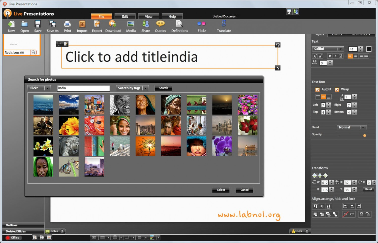 Live Documents Releases Offline Presentation Editor; Drops Office 2007 Skin Infographic