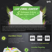 Live Email Content: 5 Techniques to Bring Your Emails to Life Infographic