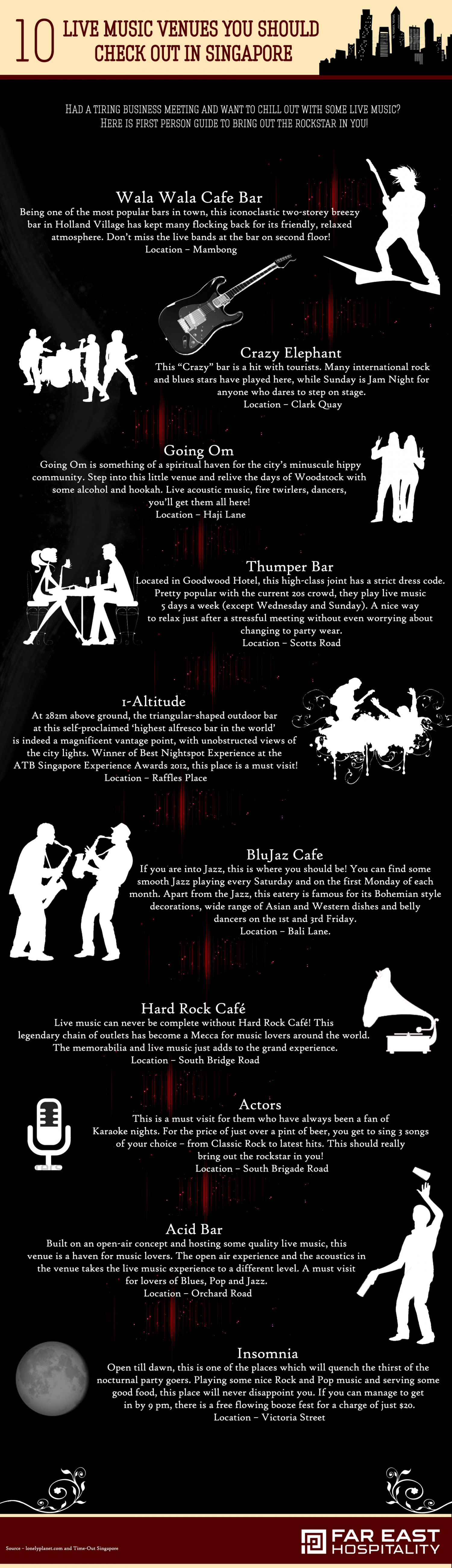 Live Music Venues you should Check Out In Singapore Infographic