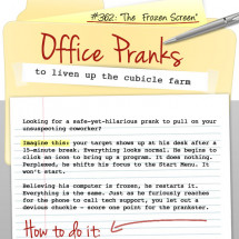 Livening Up the Cubicle Farm: An Office Prank How-to Infographic