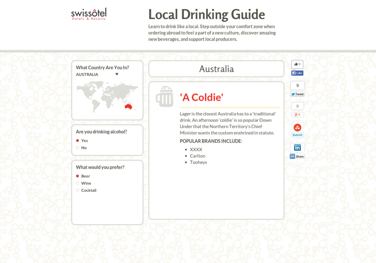 Local Drinking Guide Infographic