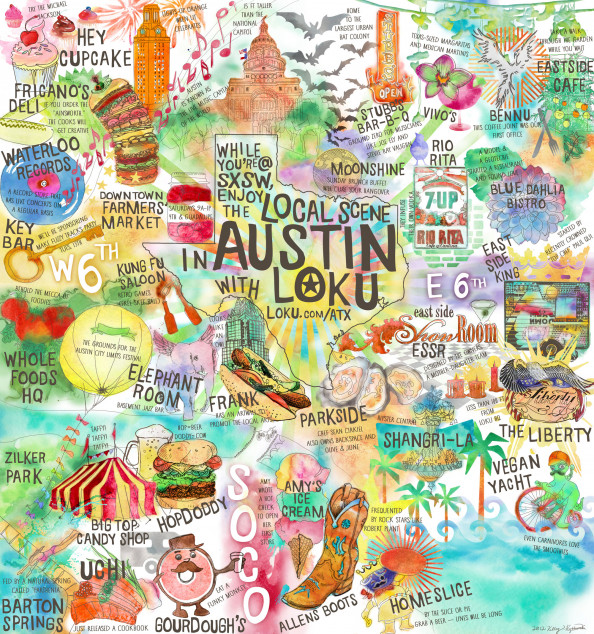 Loku SXSW Guide Infographic