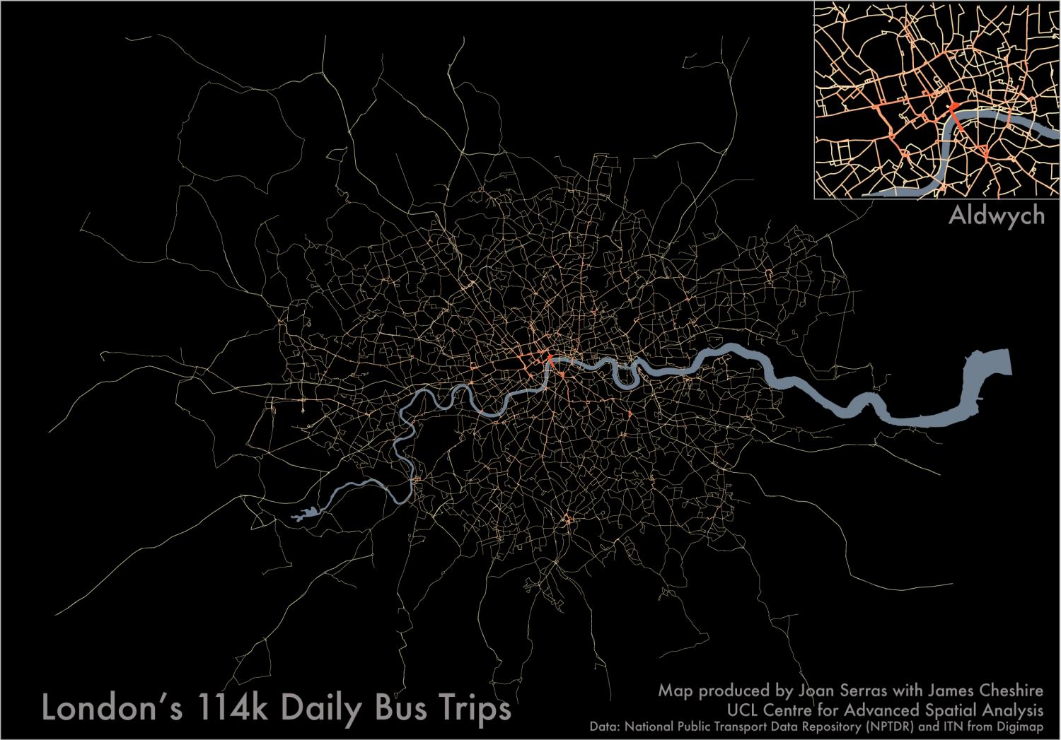 London's 114k Daily Bus Trips Infographic