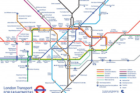 London's Punderground for Fashionistas Infographic