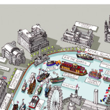 LondonTown.com's Thames Diamond Jubilee Pageant Map Infographic