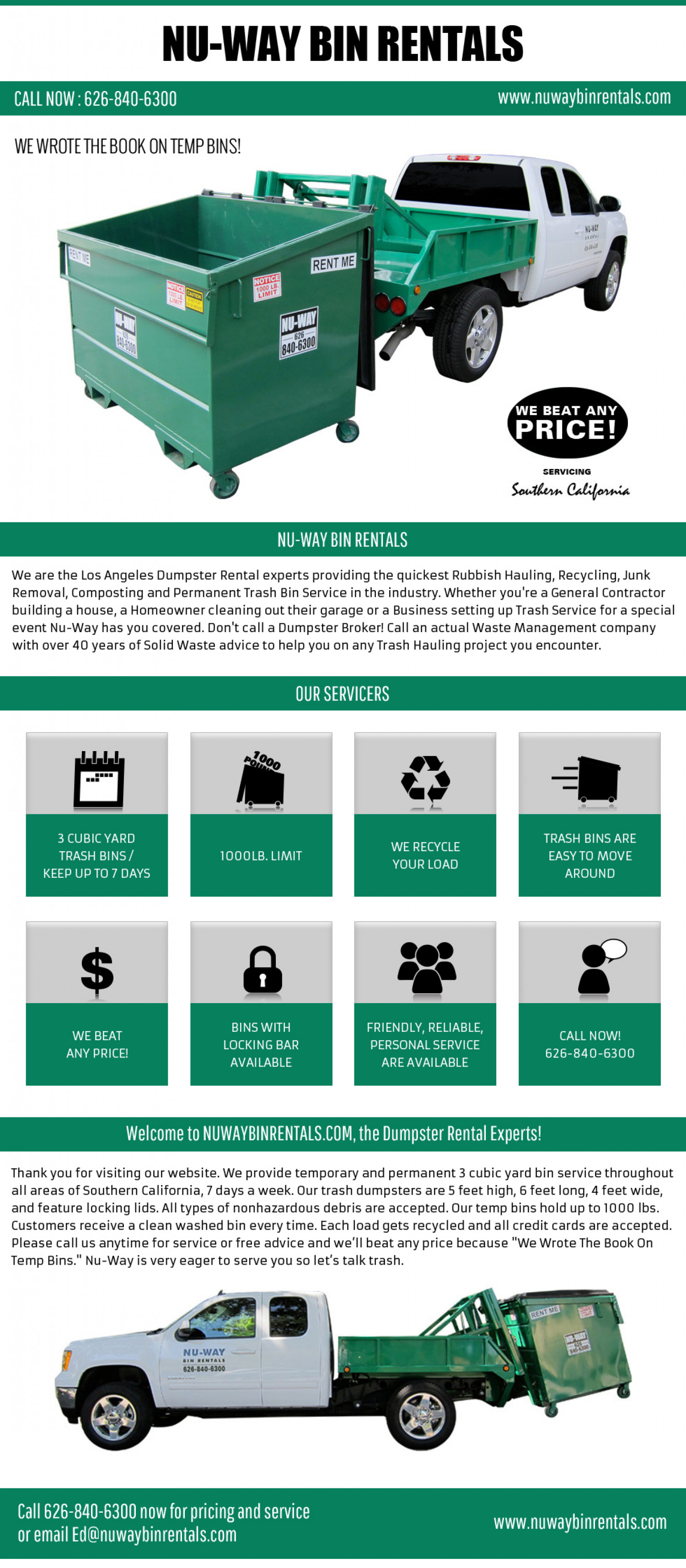 Los Angeles Trash Pick Up Infographic