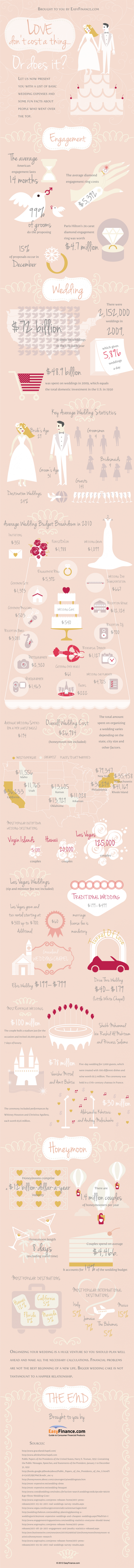 Love Don&#039;t Cost a Thing. Or Does It?  Infographic