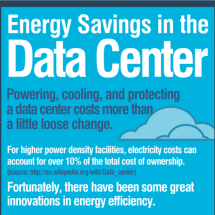 Lower Data Center Energy Bills, Maximize Performance Infographic