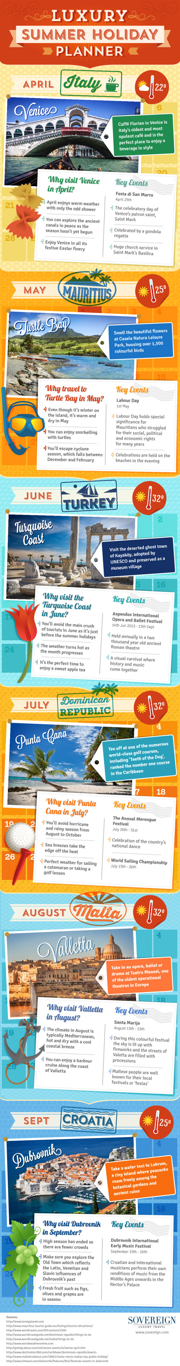 Luxury Summer Holiday Planner