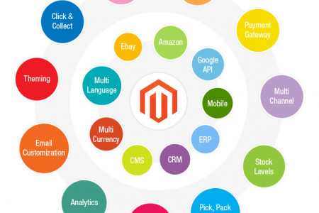 Magento vs. WordPress ecommerce – a comparison of two leading e-commerce tools Infographic
