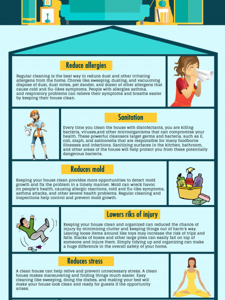 Maid Sailors - Health Benefits of a Clean Home Infographic