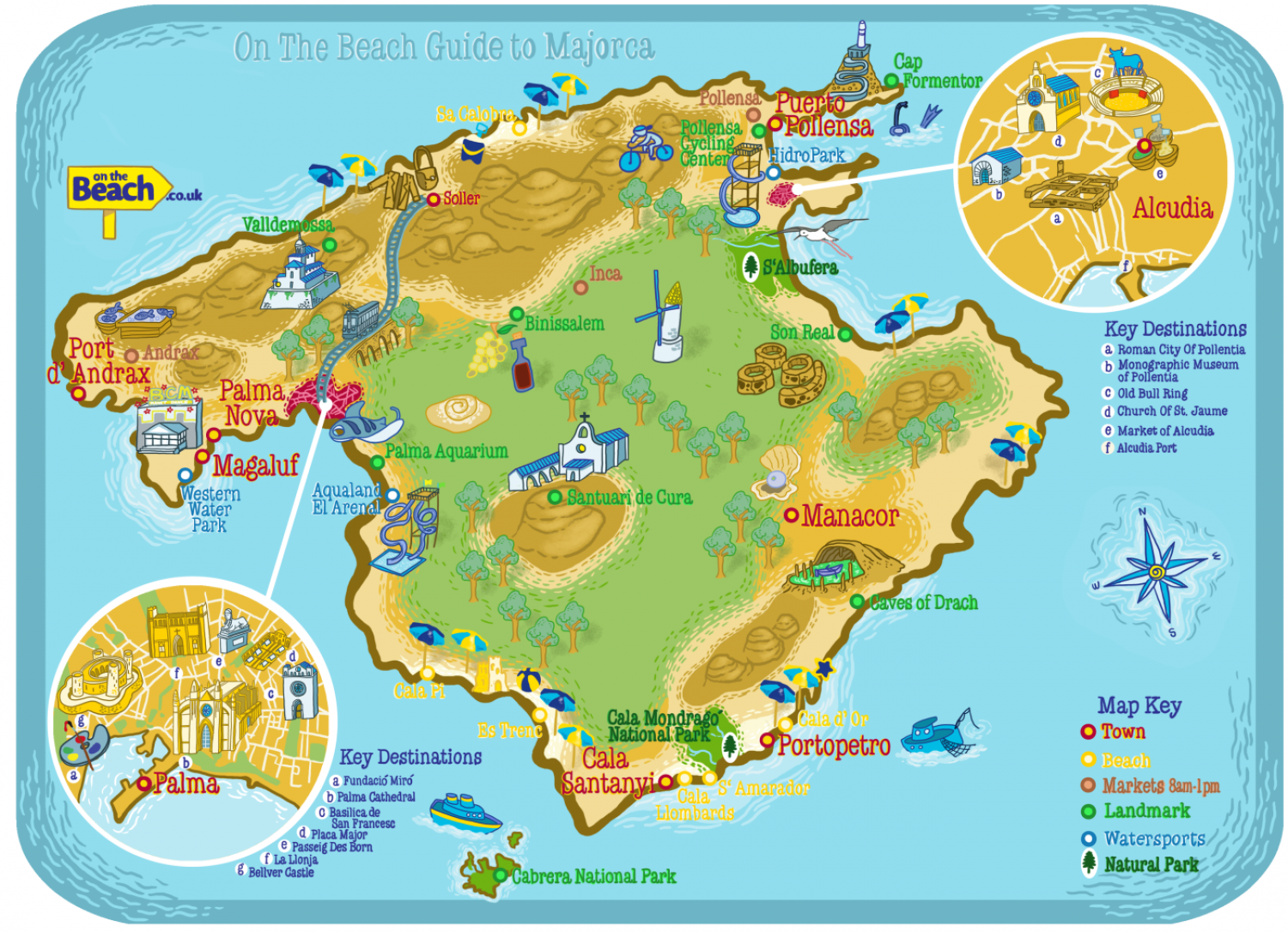 Majorca Guide from On the Beach Infographic
