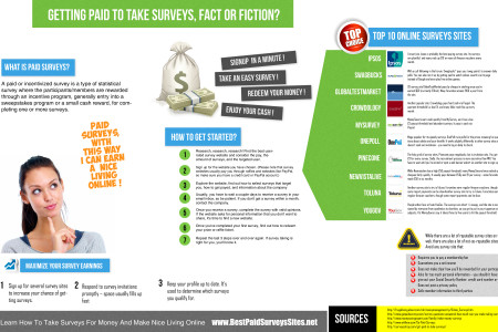 Make Money With These Top Best Survey Sites Infographic