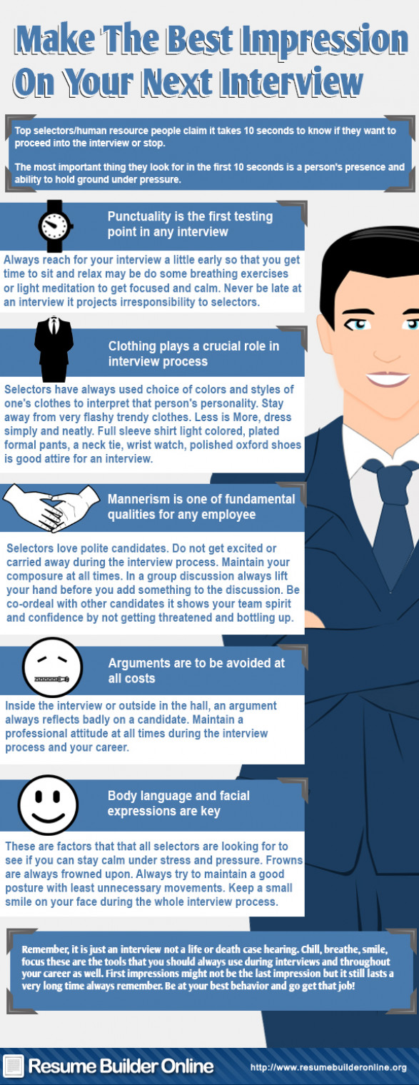 Make The Best Impression On Your Next Interview
