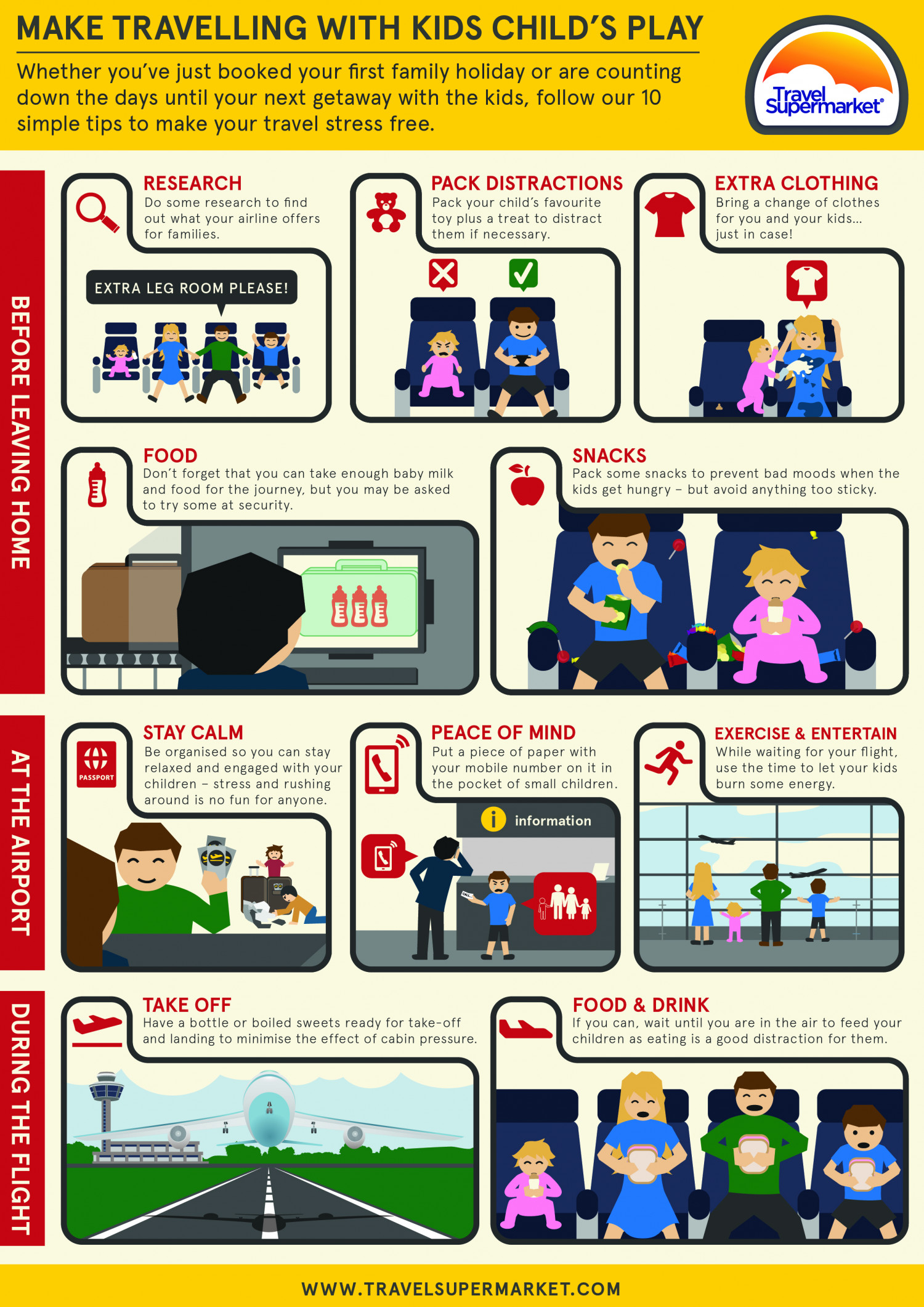 Make Travelling With Kids Child's Play Infographic