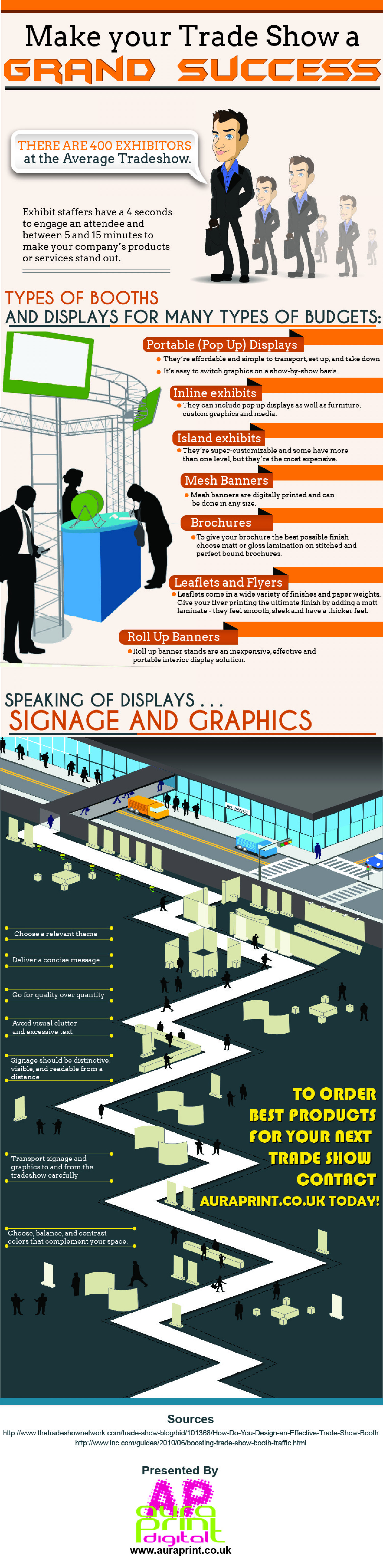 Make your Trade Show a Grand Success Infographic